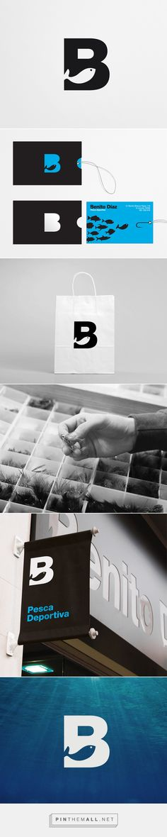 Benito Díaz indentity packaging on Behance by David de la Fuente curated by Packaging Diva PD. Let's go fishing : ) PD
