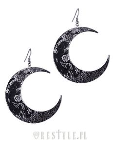 """""""MOON TEXTURED EARRINGS"""" Gothic Earrings, Crescent, occult fashion"""