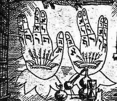 Dłonie, fragment projektu scenograficznego J. Skarżyńskiego