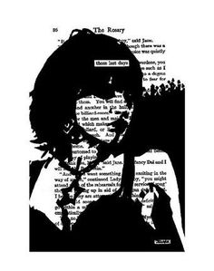 Those Last Days Poster Print by John Clark People Art Abstract Decorative Modern Pop Figurative Portraits Women Teaching Posters Language Arts Literature Culture Black and White Contemporary