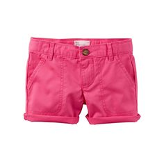 Toddler Girl Carter's Twill Shorts, Size: 4T, Pink