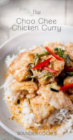 Choo Chee Chicken Curry Recipe (Thai) Chicken Curry, Crispy Chicken, Easy Asian Recipes, Healthy Recipes, Ethnic Recipes, African Recipes, Easy Curry Sauce, Thai Curry Recipes, Zucchini