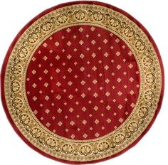 Barclay Hudson Terrace Red 7'10'' ROUND Infinity Home Area Rug (54890) transitional-rugs
