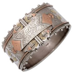 "One of the most beautiful things I've seen in a while...""Think of Me"" Superb Victorian Cuff Bracelet-circa 1860"