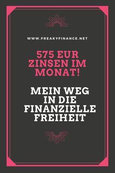Fast 575€ Zinsen im Monat - Es müssen nicht nur Aktien und Dividenden sein. Kassieren durch alternative Investments und Zinserträge! Nutze auch du die Macht des Zinseszins!