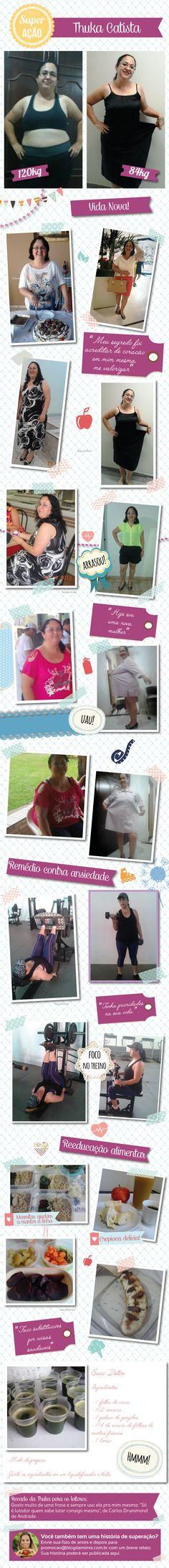 Superação Thuka: como vencer a depressão e mandar 36kg embora - Blog da Mimis…