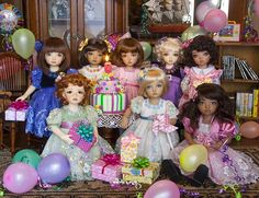 Party Dresses - Beautiful Little doll dresses - Nyssa's Birthday at Antique Lilac.