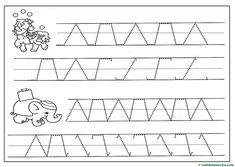 Grafomotricidad para Educación Infantil - Web del maestro Diagram, Words, Animals, File Folder Games, Note Cards, Kids, Horse