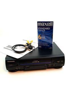 Panasonic PV-V4022 VHS VCR 4 Head Video Cassette Recorder Tested No Remote #Panasonic Electronics, Ebay, Consumer Electronics