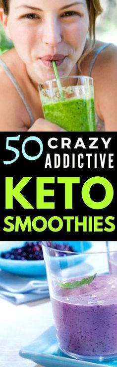Simply the Best Low-carb Keto Smoothies that are delicious and fast to make. #keto #ketorecipes