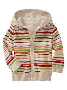 Hooded cardigan (3-6 mo)
