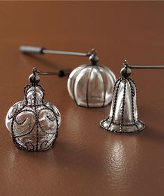 Lumiere Wire ad Glass Candle Snuffer Pumpkin Shape- C