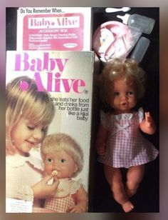 TOY Baby Alive Feeding Doll Vintage Had this exact dolly, many hours of fun. VintagePalitoy TOY Baby Alive Feeding Doll Vintage Had this exact dolly, many hours of fun. 1970s Childhood, Childhood Toys, Childhood Memories, Baby Alive, Barbie, Nostalgia, 80s Kids, I Remember When, Retro Toys