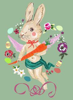bunny angel by Elisandra, March 2015