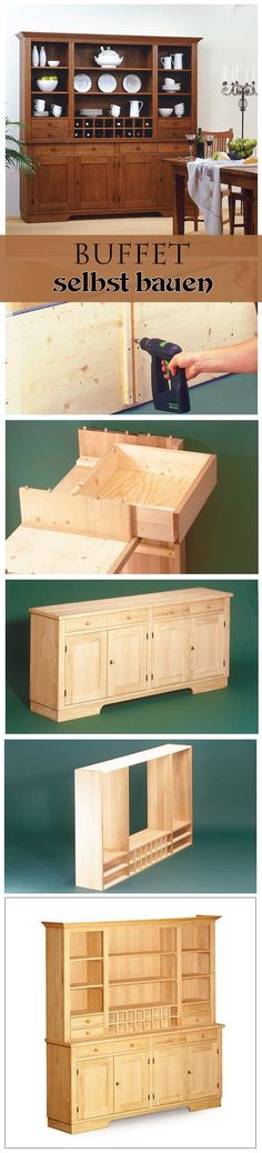 Klassische Schönheit:  Ein Buffetschrank passt in die Küche, das Ess- oder Wohnzimmer. Wir zeigen, wie man dieses hochwertige Buffet selbst bauen kann.
