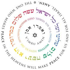 """Oseh Shalom: """"The One who makes peace in the heavens will make peace for us and for all Israel. Amen."""" This simple and eloquent prayer for peace begins with a phrase taken from Job 25:2, """"oseh shalom bimromav"""". (c)2007 Erica Schultz. Buy on Etsy: https://www.etsy.com/listing/226608993/oseh-shalomelokai-ntzor-mandalas"""