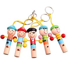 $2.13 - Cool 1pcs Baby Musical Toys Wooden Whistle Pirates Colorful Developmental Musical Toys For Children Baby Kids Doll Keychain Toy - Buy it Now!