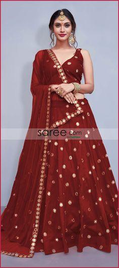 Red Taffeta Silk Designer Lehenga Choli With Mirror Work लिबास Photograph लिबास PHOTOGRAPH | IN.PINTEREST.COM WHATSAPP EDUCRATSWEB