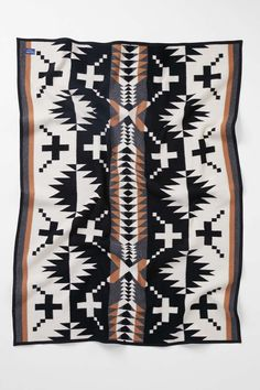 Pendleton Spider Rock Throw Blanket Jacquard throw blanket from the experts at Pendleton. This classic heritage piece is perfect for tossing over the couch or end of your bed for quick cuddling. Woven in Pendleton's traditional Northwest mills, this napped, felt-bound blanket is crafted from pure virgin wool.