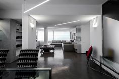 Foto: Ikonos works: Living and dining room. Project: +Giammetta Architects, Luigi Filetici photographer.