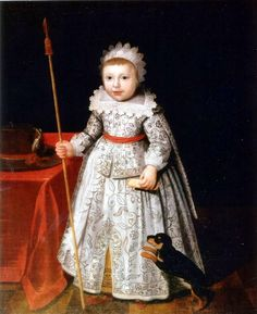 Unknown;  Portrait of a little boy with his pet dog;  1630