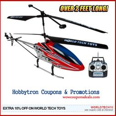 Hobbytron Coupons & Promotions – Extra 10% OFF Select Items  http://www.wowcouponsdeals.com/coupons/10off-hobbytron-coupons/  #Hobbytron #HobbytronCoupons #Worldtechtoys #Airsoft #Toys #Drones #RCHelicopters #Cars #Wowcouponsdeals
