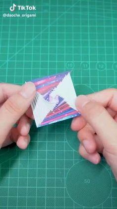 Diy Crafts Hacks, Diy Crafts For Gifts, Diy Arts And Crafts, Creative Crafts, Tape Crafts, Instruções Origami, Paper Crafts Origami, Paper Crafting, Oragami