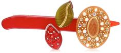 Caravan Hand Made Stone With Gold Flower Rubber Barrette -- Details can be found by clicking on the image.