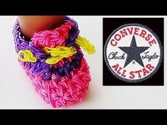Rainbow Loom Sneakers (Loom Bands, American Girl Doll Shoes, Converse)