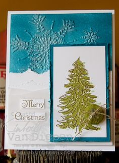 Christmas Card with Evergreen stamp set