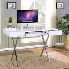 InRoom Designs Computer Desk with 2 Drawers