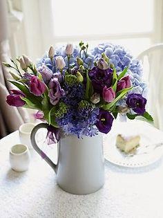 Gorgeous purple flower arrangment