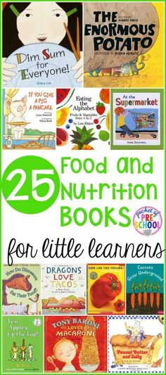 25 Food and Nutrition books perfect for preschool, pre-k, and kindergarten. Use these books for a grocery store theme, nutrition theme, healthy theme, or with your picky eaters.