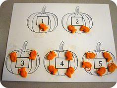5 little pumpkins counting snack mat