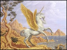 Golden Pegasus POSTED ON MAY 9, 2015  Pegasus is the flying horse described in Greek and Roman mythology. He is sometimes portrayed as being a white horse and even occasionally as having golden wings....