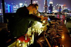 Casa Noble Cocktail Competition action, Kathleen Waitan Restaurant, Shanghai, China