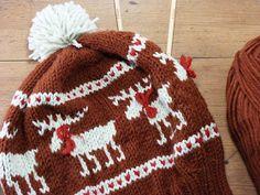 Moose Fair Isle Hat - Free Knitting Pattern