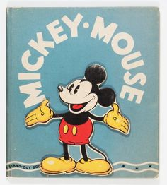 Memorabilia:Disney, Mickey Mouse Stand-Out Book (Whitman, Condition: VF-. Mickey Mouse Art, Mickey Mouse And Friends, Mickey Minnie Mouse, Disney Mickey, Disney Posters, Disney Cartoons, Mouse Illustration, Walter Elias Disney, Steamboat Willie