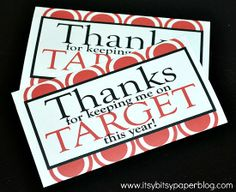 Target Gift Card Holder . . .for his teacher at the end of the year :o)