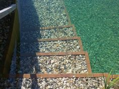 Einstiegsbereich Holznaturpool Stepping Stones, Outdoor Decor, Home Decor, Timber Wood, Stair Risers, Decoration Home, Room Decor, Home Interior Design, Home Decoration