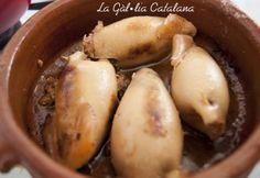 Calamars farcits a la catalana