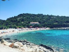 In love with the turquoise ocean in Croatia  (it makes up for the very pebbly beaches!) #croatia #beach