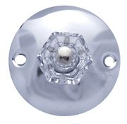 Art Deco robe hook - for a bathroom or bedroom. Very nice simple design with a real glass knob in the center.