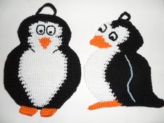 Free Pattern pinguin potholder