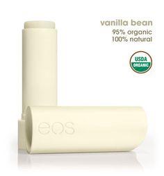 Vanilla Bean Lip Balm Stick. USDA Organic.  95% organic 100% natural. Long-lasting moisture, Shea butter & vitamin E, Smoothes on clear, Gluten-free, Paraben-free,  Petrolatum-free, Phthalate-free $3.29