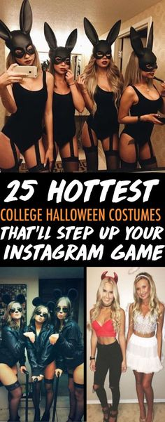 These are the hottest Halloween costumes that are totally IG worthy! Halloween is one of the most important holidays in college. From Baywatch to blind mice, here are the 25 most Insta-worthy college Halloween costumes! Costume Catwoman, Diy Halloween Costumes For Women, Woman Costumes, Halloween Decorations, Group Costumes, Haloween Costumes 2017, Costume Women Diy, Sorority Halloween Costumes, Sexy Diy Costumes