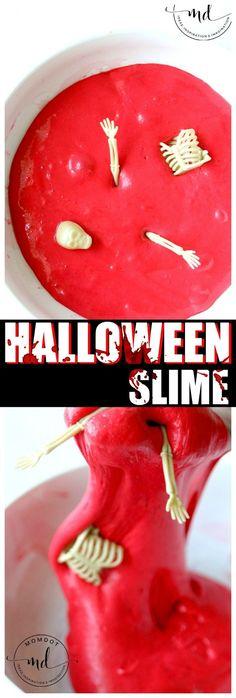 Zombie Halloween Slime | Red Blood Slime DIY | How to make Halloween Slime Dyi Slime, Edible Slime, Fairy Halloween Costumes, Halloween Themes, Halloween Crafts, Halloween Zombie, Zombie Crafts, Zombie Decorations, Slime Shops