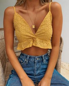 43 Top Summer Outfits — Green and Yellow Make You Cool; summer outfitsYou can find Summer tops and more on our Top Summer Outfits — Green and Yellow Make You Cool; Crop Top Outfits, Cute Casual Outfits, Date Outfits, Fashionable Outfits, Rock Outfits, Swag Outfits, Preppy Outfits, Sweater Outfits, Chic Outfits