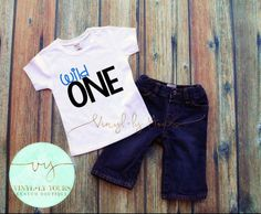 Wild One Shirt First Birthday Shirt Birthday by VYCustomBoutique