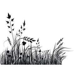 Grass silhouette vector - Another! Grass Silhouette, Flower Silhouette, Silhouette Vector, Landscape Silhouette, Grass Drawing, Wall Drawing, Line Drawing, Doodle Drawings, Doodle Art